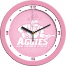 "New Mexico State Aggies 12"" Pink Wall Clock"