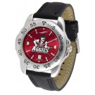 New Mexico State Aggies Sport AnoChrome Men's Watch with Leather Band