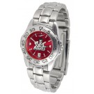 New Mexico State Aggies Sport AnoChrome Ladies Watch with Steel Band