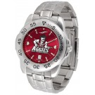 New Mexico State Aggies Sport Steel Band Ano-Chrome Men's Watch