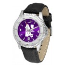 Northwestern Wildcats Competitor AnoChrome Men's Watch with Nylon/Leather Band