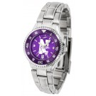 Northwestern Wildcats Competitor AnoChrome Ladies Watch with Steel Band and Colored Bezel by