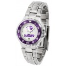 Northwestern Wildcats Competitor Ladies Watch with Steel Band by