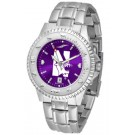 Northwestern Wildcats Competitor AnoChrome Men's Watch with Steel Band by
