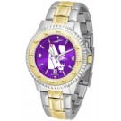 Northwestern Wildcats Competitor AnoChrome Two Tone Watch