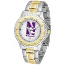 Northwestern Wildcats Competitor Two Tone Watch by