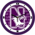 "Northwestern Wildcats 12"" Dimension Wall Clock"