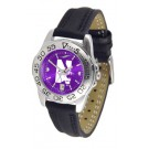Northwestern Wildcats Sport AnoChrome Ladies Watch with Leather Band by
