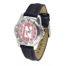Northwestern Wildcats Ladies Sport Watch with Leather Band and Mother of Pearl Dial by