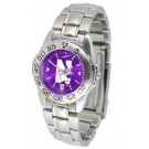 Northwestern Wildcats Sport AnoChrome Ladies Watch with Steel Band by