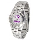 Northwestern Wildcats Gameday Sport Ladies' Watch with a Metal Band by