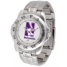 Northwestern Wildcats Sport Steel Band Men's Watch