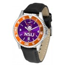 Northwestern State Demons Competitor AnoChrome Men's Watch with Nylon/Leather Band and Colored Bezel