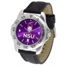 Northwestern State Demons Sport AnoChrome Men's Watch with Leather Band