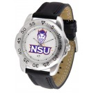 Northwestern State Demons Men's Sport Watch with Leather Band