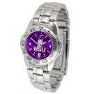 Northwestern State Demons Sport AnoChrome Ladies Watch with Steel Band