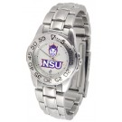 Northwestern State Demons Ladies Sport Watch with Stainless Steel Band