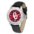 Oklahoma Sooners Competitor AnoChrome Men's Watch with Nylon/Leather Band