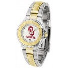 Oklahoma Sooners Competitor Ladies Watch with Two-Tone Band