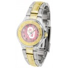 Oklahoma Sooners Competitor Ladies Watch with Mother of Pearl Dial and Two-Tone Band by