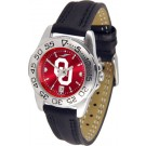 Oklahoma Sooners Sport AnoChrome Ladies Watch with Leather Band