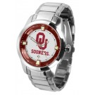 Oklahoma Sooners Titan Steel Watch