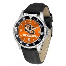 Oregon State Beavers Competitor AnoChrome Men's Watch with Nylon/Leather Band and Colored Bezel