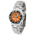 Oregon State Beavers Competitor AnoChrome Ladies Watch with Steel Band and Colored Bezel