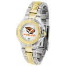 Oregon State Beavers Competitor Ladies Watch with Two-Tone Band