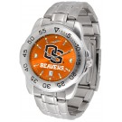 Oregon State Beavers Sport Steel Band Ano-Chrome Men's Watch