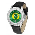 Oregon Ducks Competitor AnoChrome Men's Watch with Nylon/Leather Band