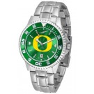 Oregon Ducks Competitor AnoChrome Men's Watch with Steel Band and Colored Bezel