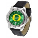 Oregon Ducks Sport AnoChrome Men's Watch with Leather Band