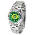 Oregon Ducks Sport AnoChrome Ladies Watch with Steel Band