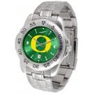Oregon Ducks Sport Steel Band Ano-Chrome Men's Watch