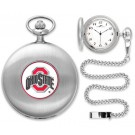 Ohio State Buckeyes Silver Pocket Watch