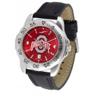 Ohio State Buckeyes Sport AnoChrome Men's Watch with Leather Band