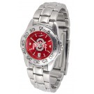 Ohio State Buckeyes Sport AnoChrome Ladies Watch with Steel Band