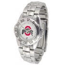 Ohio State Buckeyes Gameday Sport Ladies' Watch with a Metal Band