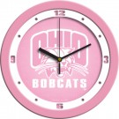 "Ohio Bobcats 12"" Pink Wall Clock"