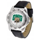 Ohio Bobcats Men's Sport Watch with Leather Band