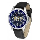 Pittsburgh Panthers Competitor AnoChrome Men's Watch with Nylon/Leather Band and Colored Bezel
