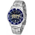 Pittsburgh Panthers Competitor AnoChrome Men's Watch with Steel Band and Colored Bezel