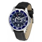Penn State Nittany Lions Competitor AnoChrome Men's Watch with Nylon/Leather Band and Colored Bezel