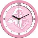 "Purdue Boilermakers 12"" Pink Wall Clock"