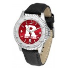 Rutgers Scarlet Knights Competitor AnoChrome Men's Watch with Nylon/Leather Band