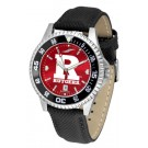 Rutgers Scarlet Knights Competitor AnoChrome Men's Watch with Nylon/Leather Band and Colored Bezel