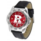 Rutgers Scarlet Knights Sport AnoChrome Men's Watch with Leather Band