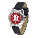 Rutgers Scarlet Knights Sport AnoChrome Ladies Watch with Leather Band