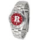 Rutgers Scarlet Knights Sport AnoChrome Ladies Watch with Steel Band